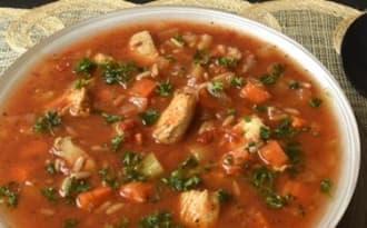 Soupe de poulet au riz - Ma Cuisine Santé
