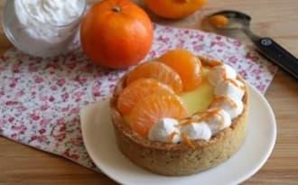 Tartelettes crème bergamote-clémentine chantilly coco