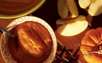 Compote pomme potiron orange