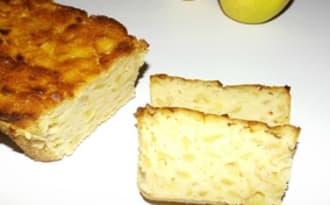 Cake fondant gourmand aux pommes et au citron