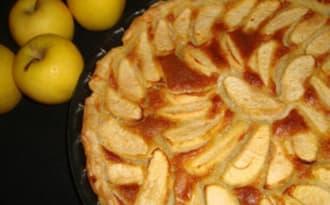 Tarte aux pommes façon bourdaloue