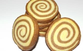 Sablés escargots vanille et chocolat