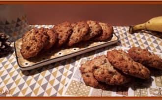 Cookies à la banane et pépites de chocolat