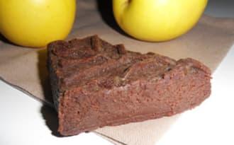 Fondant au chocolat et à la compote de pommes