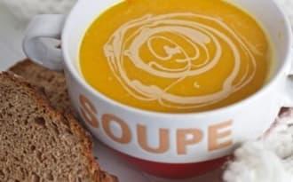 Soupe potimarron et lentilles