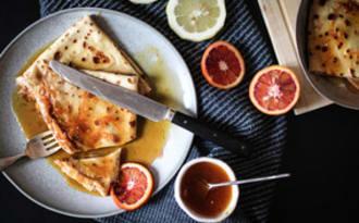Crêpes au limoncello et à la mandarine