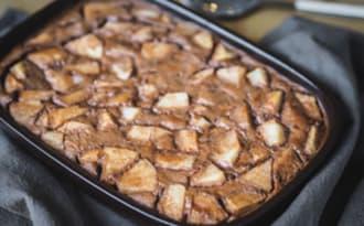 Clafoutis au chocolat et à la poire