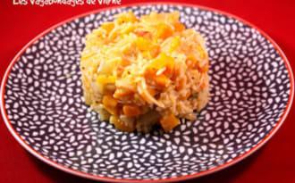 Riz au crabe, fenouil et potimarron