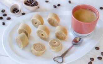 Roulés de crêpes au café
