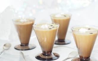 Crème anglaise au caramel et lait d'amande