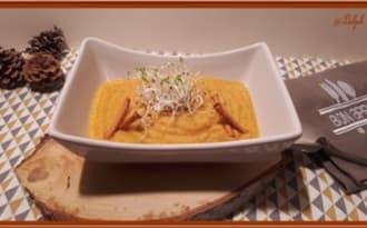 Velouté de carottes et chou-fleur rôti