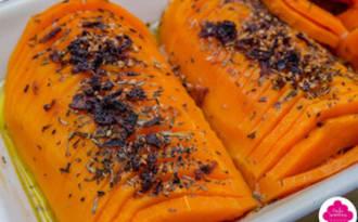 Butternut hasselback au sirop d'érable et mélange d'épices