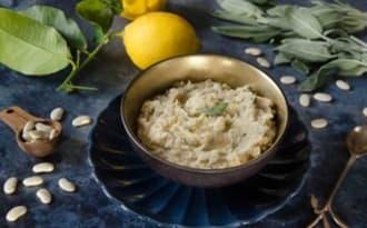 Écrasé de haricots tarbais citron et sauge