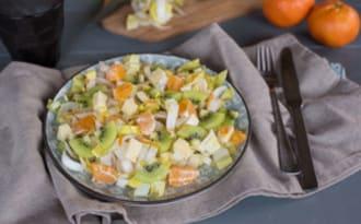 Salade endives kiwi gruyère