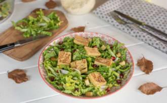 Salade de chou chinois et panisse grillée