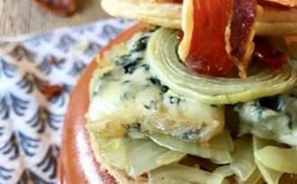 Tartelettes aux oignons et Bleu d'Auvergne