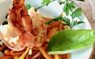 Crevettes sautées à l'asiatique