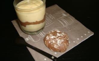 Crème dessert marbrée vanille et chocolat