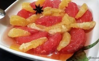 Salade d'agrume à la grenadine