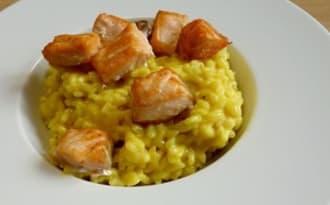 Risotto saumon safran citron