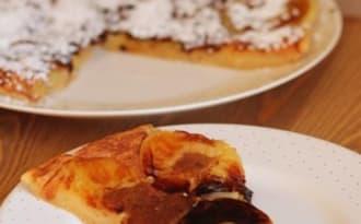 """Ciasto """"Jabłka w cieście"""" gâteau aux pommes à la poêle"""