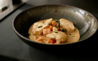 Joues de lotte en curry