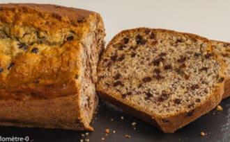 Gâteau du matin aux bananes et pépites de chocolat