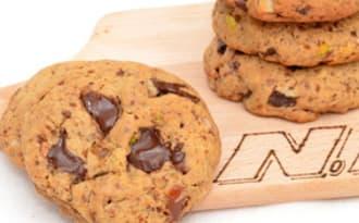 Cookies aux dattes, chocolat et pistaches