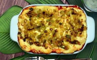 Lasagnes au poulet et poireaux à la béchamel curry-coco