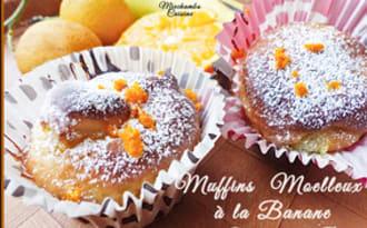 Muffins moelleux à la banane et au fromage blanc