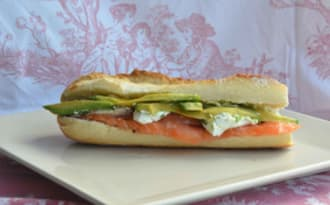 Sandwich saumon fumé artisanal