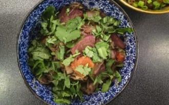 Wok de vermicelles de «soja aux légumes