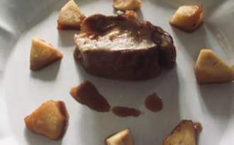 Filet mignon laqué à la normande