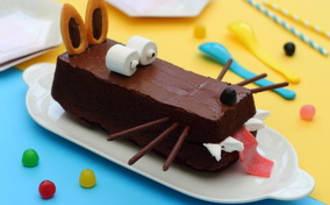 """Gâteau d'anniversaire enfant """"le loup"""""""