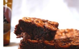 Brownie stout pretzel