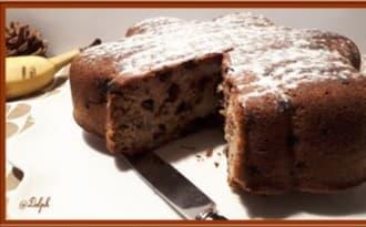 Gâteau aux bananes et pépites de chocolat