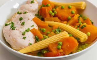 Poule au pot aux légumes