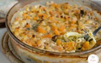Gratin de macaronis, butternut et gorgonzola