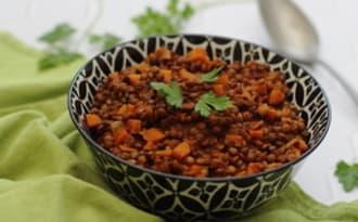 Lentilles et carottes aux épices