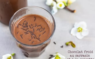 Chocolat froid au sarrasin et à la noisette