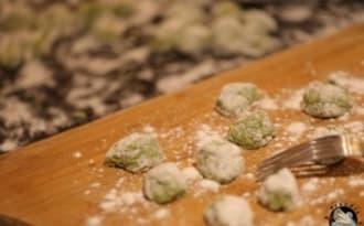 Gnocchis d'épinards fait maison