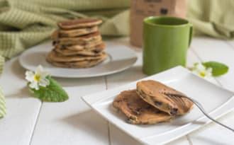 Pancakes au seigle et pépites de chocolat