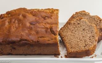 Gâteau du matin à la farine de châtaignes et aux marrons glacés