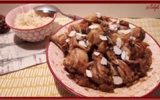 Tajine de poulet aux abricots et au citron avec ou sans Cookéo.