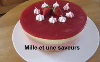Entremet fraise et chocolat blanc
