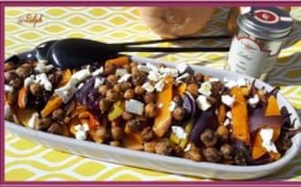 Salade de pois chiches, butternut et feta