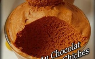 Mousse au chocolat au jus de pois chiches