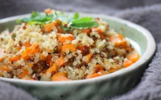 Quinoa, patate douce et carotte