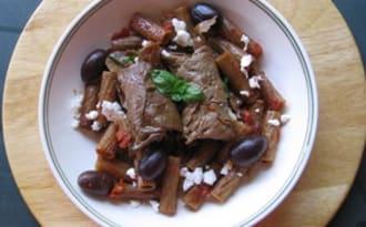 Roulés de veau à la feta et aux olives Kalamata