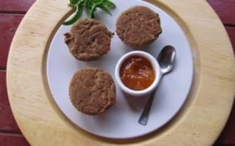 Muffins à l'orange, abricots et pruneaux